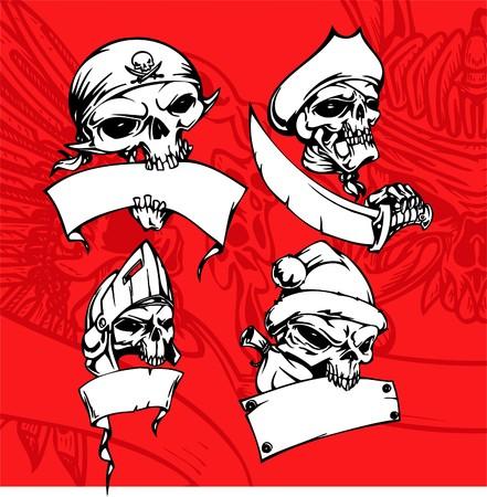 Skulls. Illustration.Vinyl Ready. Stock Vector - 8682645