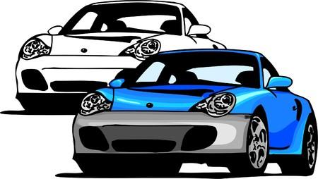 Sport Cars.  Illustration.Vinyl Ready. Stock Vector - 8682758