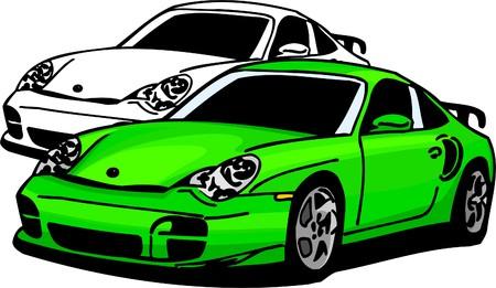 Sport Cars.  Illustration.Vinyl Ready. Stock Vector - 8682767