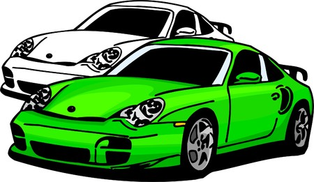 racecar: Sport Cars.  Illustration.Vinyl Ready.