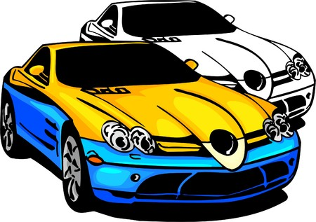 front bumper: Sport Cars.  Illustration.Vinyl Ready.