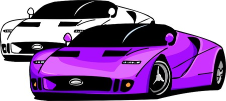 motorized sport: Sport Cars.  Illustration.Vinyl Ready.