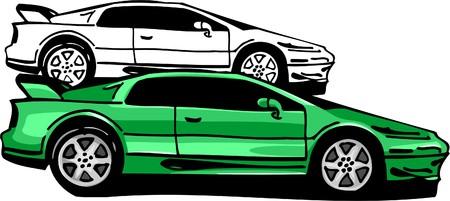 Sport Cars.  Illustration.Vinyl Ready. Stock Vector - 8682739