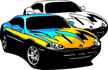 Sport Cars.  Illustration.Vinyl Ready. Stock Vector - 8682756