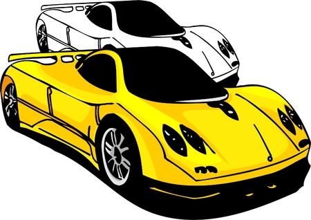 Sport Cars.  Illustration.Vinyl Ready. Stock Vector - 8682760