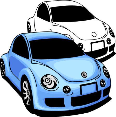 scheinwerfer: Sport Autos.  Illustration.Vinyl bereit. Illustration
