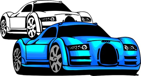 Sport Cars.  Illustration.Vinyl Ready. Stock Vector - 8682764