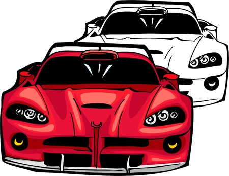Sport Cars.  Illustration.Vinyl Ready. Stock Vector - 8682755