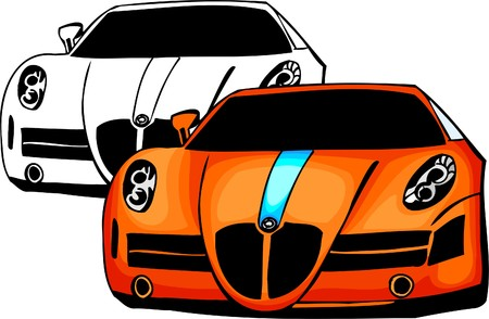 Sport Cars.  Illustration.Vinyl Ready. Stock Vector - 8682686