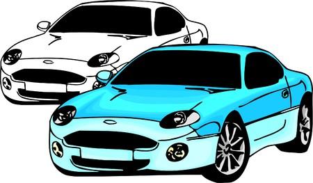 Sport Cars.  Illustration.Vinyl Ready. Stock Vector - 8682763