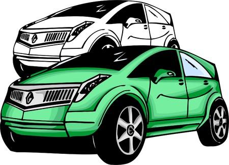 Sport Cars.  Illustration.Vinyl Ready. Stock Vector - 8682775