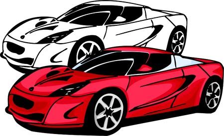 Sport Cars.  Illustration.Vinyl Ready Vector