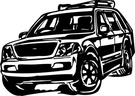 Street Racing Cars.Vector illustration ready for vinyl cutting. Stock Vector - 8682512