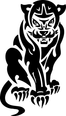 Puma.Tribal Animals.Vector illustration ready for vinyl cutting. Stock Vector - 8758894