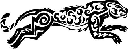 Tiger.Tribal Animals.Vector illustration ready for vinyl cutting. Stock Vector - 8758241