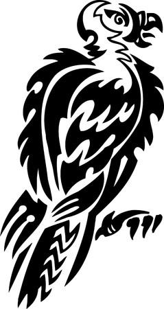 condor: Condor.Tribal Animals.Vector illustration ready for vinyl cutting. Illustration