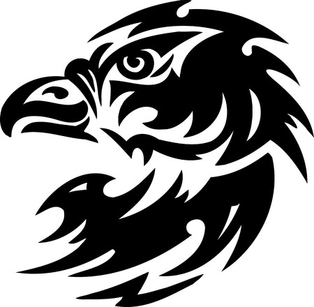 Eagle.Tribal Animals.Vector illustration ready for vinyl cutting. Stock Vector - 8758874