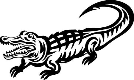 jaw: Crocodile.Tribal Animals.Vector illustration ready for vinyl cutting.