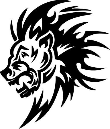 Leo.Tribal Animals.Vector illustration ready for vinyl cutting. Vector