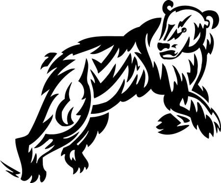 Bear.Tribal Animals.Vector illustration ready for vinyl cutting. Vector