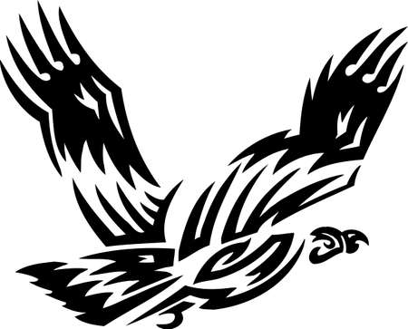 condor: Eagle..Tribal Animals.Vector illustration ready for vinyl cutting.