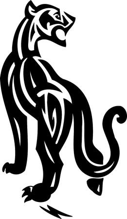 art painting: Tribal Animals.Vector illustration ready for vinyl cutting.