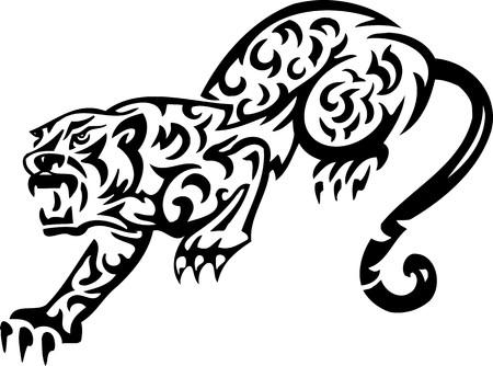 Tiger.Tribal Animals.Vector illustration ready for vinyl cutting. Vector