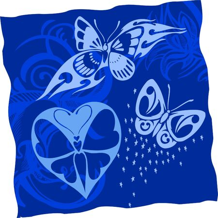 Tribal Butterflies. Vector Illustration.Vinyl Ready. illustration