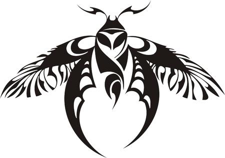 Tribal Butterflies.Vector Illustration bereit für Vinyl schneiden. Vektorgrafik