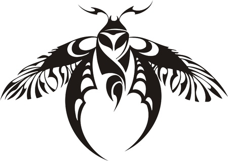 tribal wings: Tribal Butterflies.Vector illustration ready for vinyl cutting. Illustration