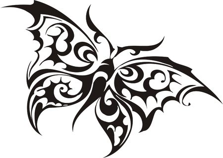 signmaker: Tribal Butterflies.Vector illustration ready for vinyl cutting. Illustration
