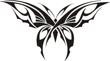 Tribal Butterflies.Vector illustration ready for vinyl cutting. Stock Vector - 8760395