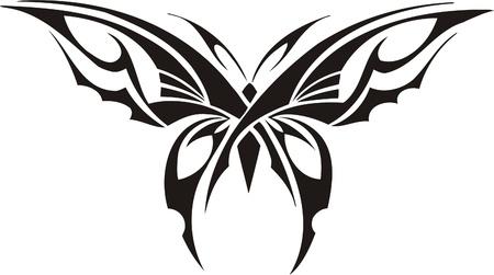 vinyl cutting: Tribal Butterflies.Vector illustration ready for vinyl cutting. Illustration