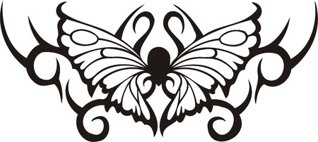 vinyl cutting: Tribal Butterflies.Vector illustration ready for vinyl cutting. Illustration