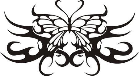 Tribal Butterflies.Vector illustration ready for vinyl cutting. Stock Vector - 8760475
