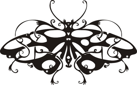 Tribal Butterflies.Vector illustration ready for vinyl cutting. Vector Illustration