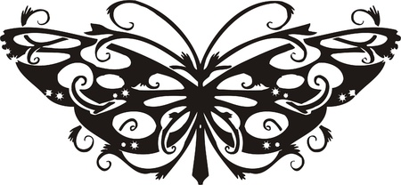Tribal Butterflies.Vector illustration ready for vinyl cutting. Stock Vector - 8760507