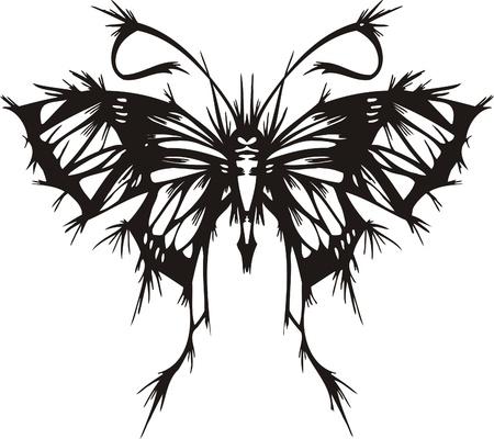 Tribal Butterflies.Vector illustration ready for vinyl cutting. Illustration