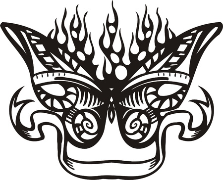 Tribal Butterflies.Vector illustration ready for vinyl cutting. Vector