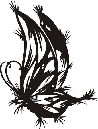 Tribal Butterflies.Vector illustration ready for vinyl cutting. Vector
