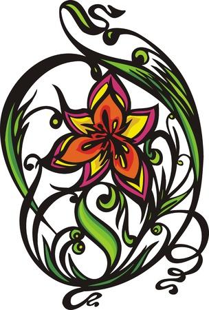 Les coeurs les fleurs &.Illustration vectoriel est prête pour la découpe de vinyle.