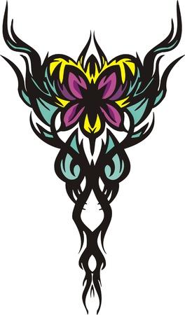 Flowers .Vector illustration ready for vinyl cutting. Vector