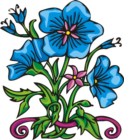 Flowers .Vector illustration ready for vinyl cutting. Stock Vector - 8761028