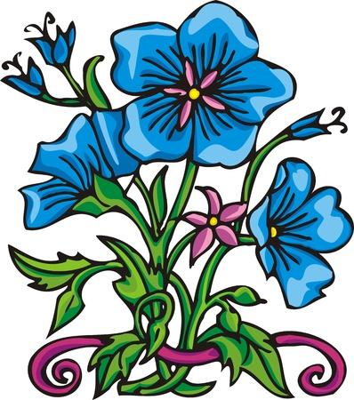 vinyl cutting:  Flowers .Vector illustration ready for vinyl cutting. Illustration