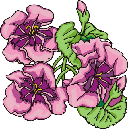 christmas tattoo: Hearts & Flowers .Vector illustration ready for vinyl cutting.
