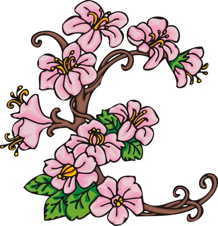 Hearts & Flowers .Vector illustration ready for vinyl cutting. Stock Vector - 8760042