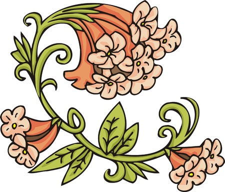 Hearts &  Flowers .Vector illustration ready for vinyl cutting. Stock Vector - 8760118