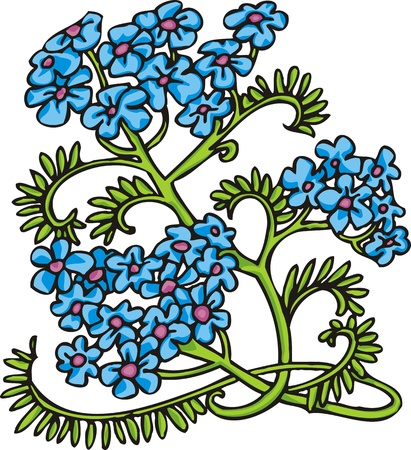 Hearts & Flowers .Vector illustration ready for vinyl cutting. Stock Vector - 8760044