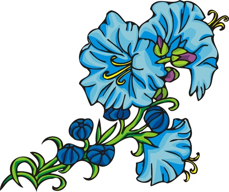 Flowers .Vector illustration ready for vinyl cutting.