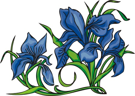 grace:  Flowers .Vector illustration ready for vinyl cutting. Illustration